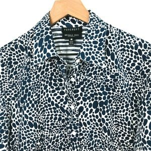 Foxcroft Tops - Foxcroft Printed Wrinkle Free Button Up Shirt